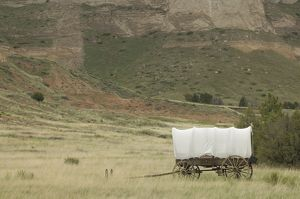 Covered wagon on the Oregon Trail