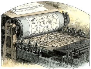 Cylinder printing press, 1800s