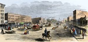 Downtown Chicago, 1850s