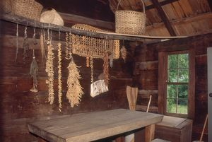 Dried food storage on a pioneer farm, Great Smoky Mountains