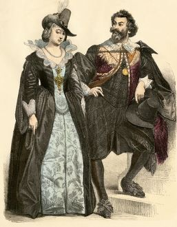 Dutch couple of the 17th century