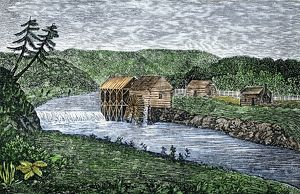 Early gristmill in Ohio Territory, 1789