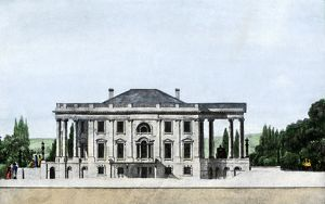 Early view of the White House, 1807