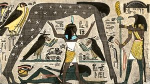 Egyptian deities separating night and day