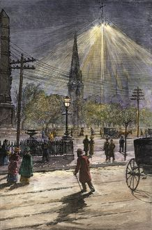Electric lights in New York City, 1880s