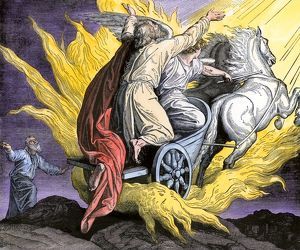 Elijah in a chariot of fire