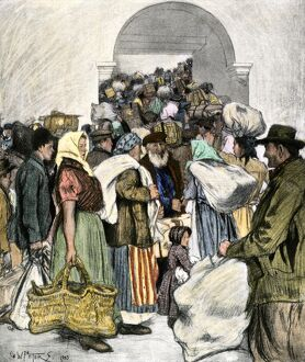 Ellis Island, port of entry for European immigrants, 1903