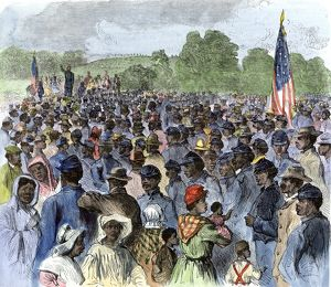 Emancipation Proclamation explained to former slaves in Louisiana