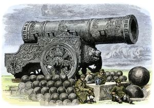 Enormous Russian cannon, 1800s