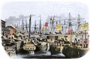 Erie Canal boats at their New York City dock
