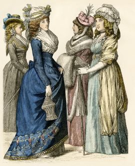 European ladies of the 1790s