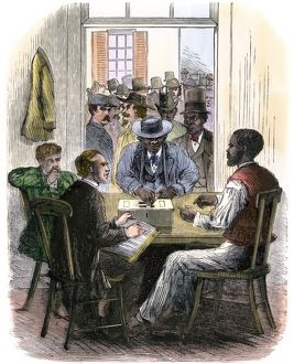First black voters in Washington DC, 1867