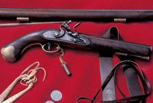 Flintlock pistol used in the fur trade