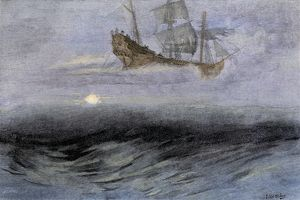The Flying Dutchman, a ghost ship