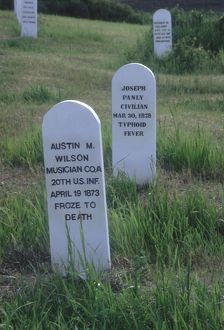 Fort Abraham Lincoln graveyard, North Dakota