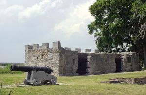 Fort Frederica on St Simons Island, Georgia