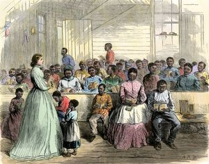 Freedmen's school in Vicksburg, Mississippi, 1866
