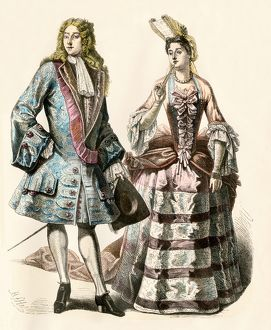 French couple at the royal court, early 18th century