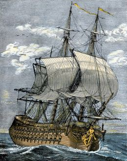 French frigate, 1700s