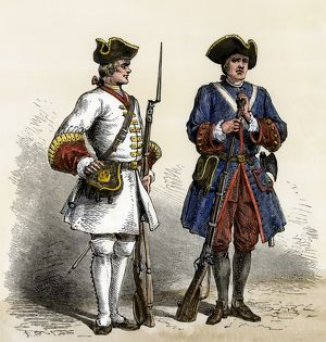 French soldiers in North America, early 1700s
