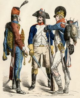 French soldiers' uniforms, 1790s