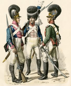 French uniforms during the Napoleonic Wars