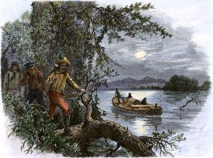 Frontiersmen on the upper Missouri River, 1800s
