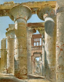 Great temple at Karnak, site of Egyptian Thebes