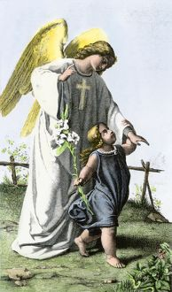 Guardian angel and a child