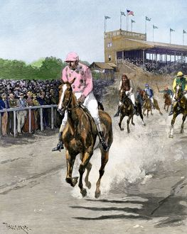 Horse race in the US, 1880s