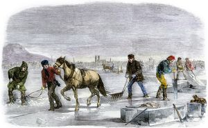 Ice-cutting in Quebec, 1850s