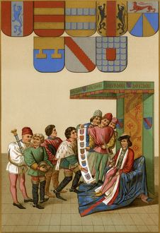 Identifying knights in a tournament through heraldry