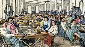 Knitting mill workers
