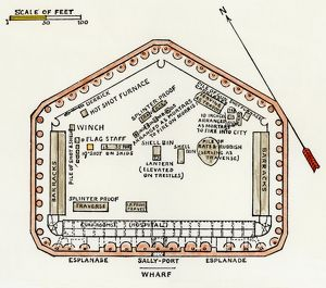 Layout of Fort Sumter at the outset of the Civil War