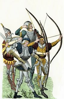 Longbowmen during the Hundred Years' War