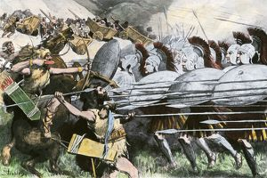 Macedonian phalanx, Battle of the Carts