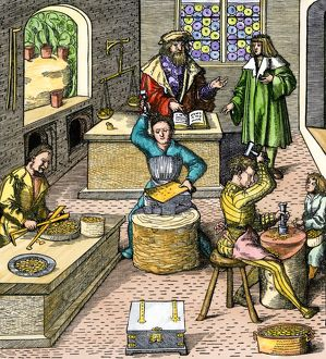 Making coins in the Middle Ages