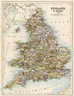 map of england 1800s