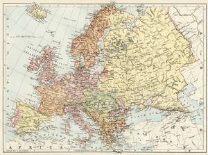 map of europe 1870s