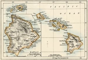 Map of Hawaii, 1870s