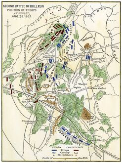 Map of the Second Battle of Bull Run, 1862