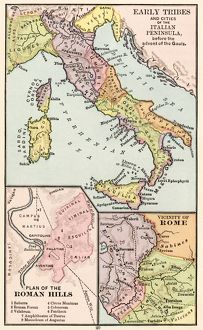 Maps of Italy in ancient times