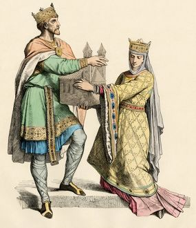 Medieval king and queen of France