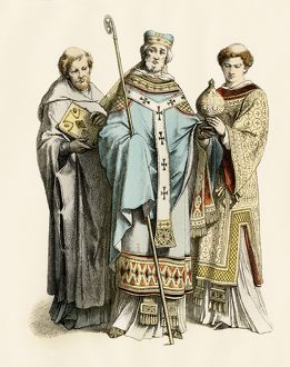 Medieval monk, archbishop and priest