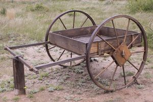 Mormon Trail hand-cart