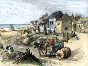 Nantucket fishing village in the 1800s