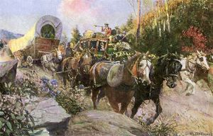 National Road wagons and stagecoach traffic