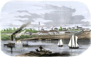 US Navy base in Memphis, Tennessee, 1850s