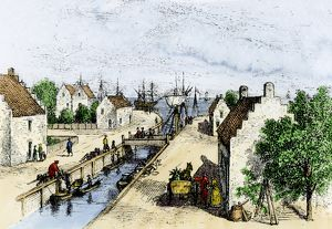New Amsterdam canal, 1600s