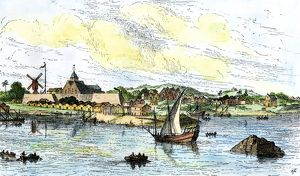 New Amsterdam, mid-1600s